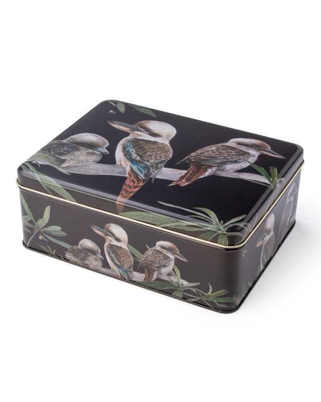 Australian birds kookaburra biscuit tin