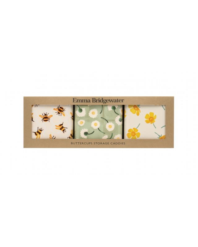 Buttercup square canister pack of 3 boxed