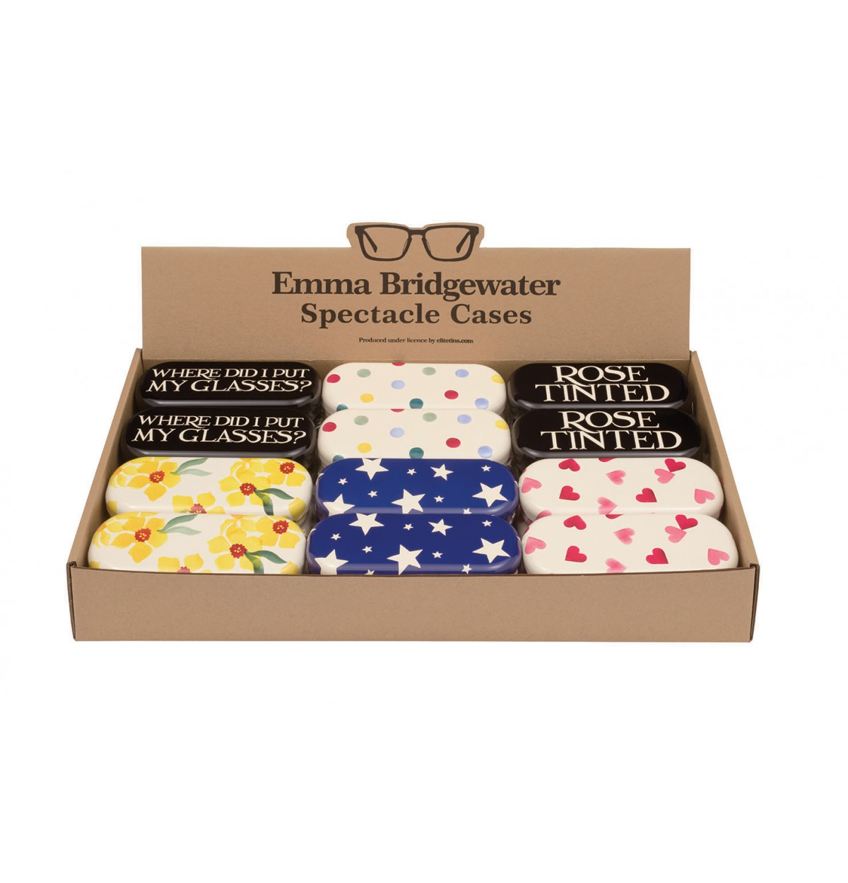 Emma Bridgewater eyeglass tins 4 designs