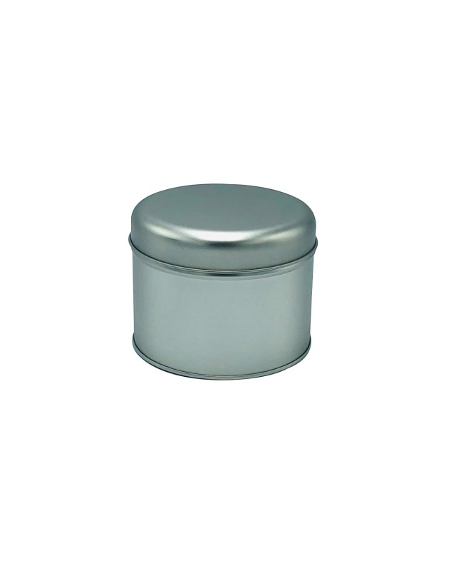 UES05 Matte Silver small round tin