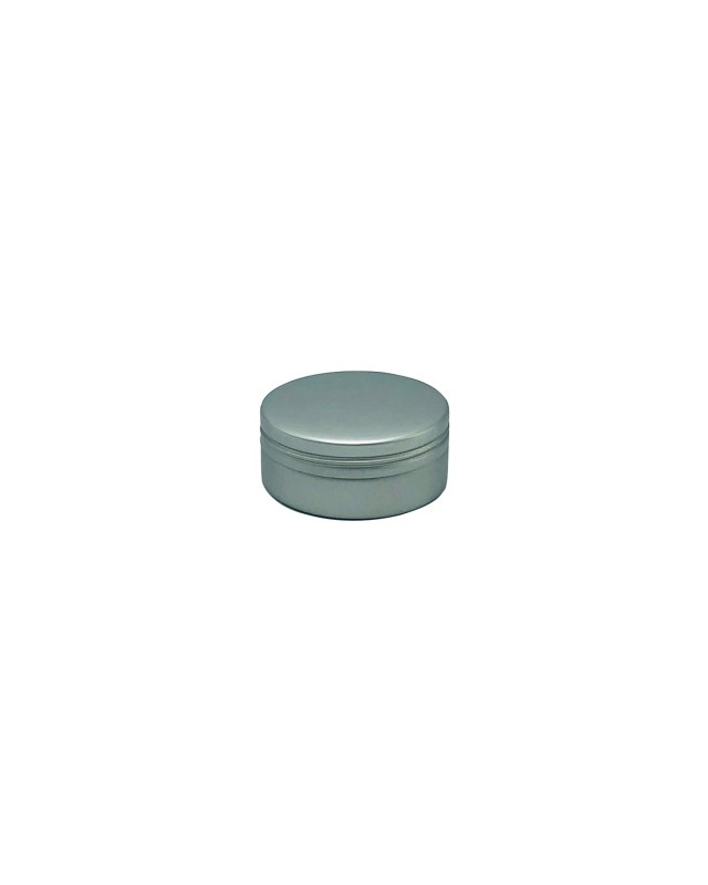 UES06 Matte Silver small round screw top tin